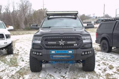 Iron Cross - Iron Cross 62-615-19 Matte Black Hardline Front Bumper with Push Bar Dodge RAM 1500 2019-2020 - Image 4