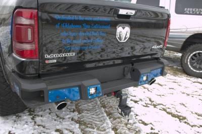 Iron Cross - Iron Cross 61-615-19 Matte Black Hardline Rear Bumper Dodge Ram 1500 2019-2020 - Image 1