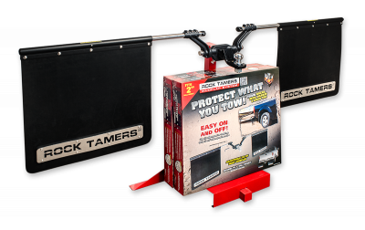 "Rock Tamers - Rock Tamers 00108 Adjustable Mud Flap System for 2"" Receiver - Image 4"