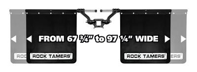 "Rock Tamers - Rock Tamers 00110 Adjustable Mud Flap System for 2.5"" Receiver - Image 4"