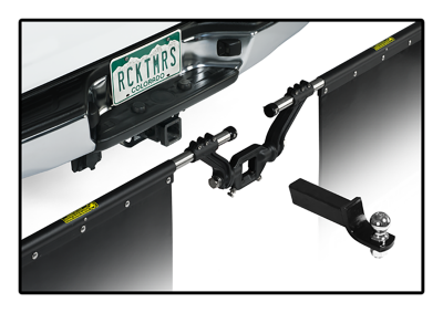"Rock Tamers - Rock Tamers 00110 Adjustable Mud Flap System for 2.5"" Receiver - Image 5"