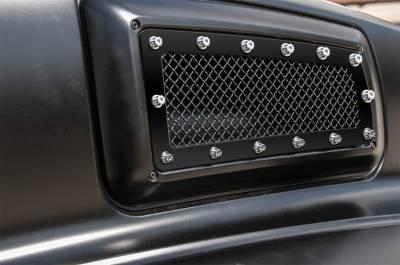 Fender Trim - Side Vent Grille - T-Rex Grilles - T-Rex Grilles 6710841 X-Metal Series Studded Mesh Side Vent