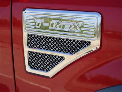 Fender Trim - Side Vent Grille - T-Rex Grilles - T-Rex Grilles 54564 Billet Series Side Vent Insert