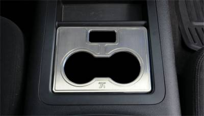 Cup Holder - Cup Holder - T-Rex Grilles - T-Rex Grilles 11051 T1 Series Billet Interior Center Console Cell Phone /Cup Holder