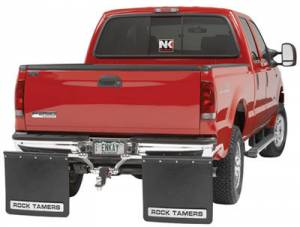 Mud Flaps for Dually Trucks - Rock Tamer Hitch Mud Flap System