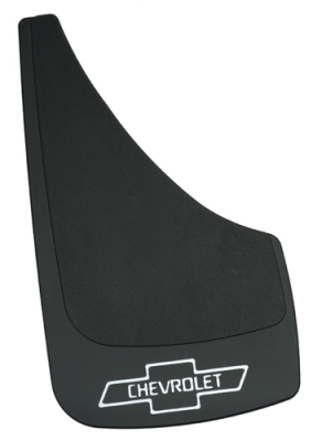 "Mud Flaps for Trucks - Highland Contura Mud Flaps - Contura-Highland - Highland 1009700 13"" X 7"" Mud Flaps with Chevy Logo Pair"