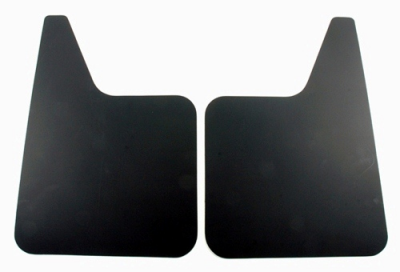 "Mud Flaps by Style - Rubber Mud Flaps - Contura-Highland - Highland 1005700 18"" X 12"" Black Plastic Mud Flaps Pair"