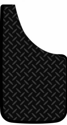 "Plasticolor 000529R01 Diamond Plate Mud Flaps Pair 9"" x 15"""