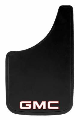 "Mud Flaps by Style - Logo Mud Flaps - Plasticolor - Plasticolor 000493R01 GMC Mud Flaps Pair 9"" x 15"""