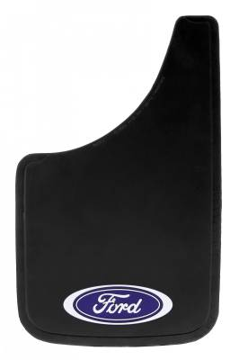"Mud Flaps by Style - Logo Mud Flaps - Plasticolor - Plasticolor 000488R01 Ford Oval Mud Flaps Pair 9"" x 15"""