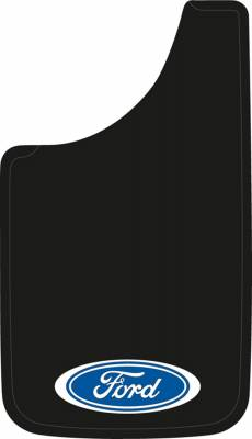 "Mud Flaps by Style - Logo Mud Flaps - Plasticolor - Plasticolor 000539R01 Oval Ford Mud Flaps Pair 11"" x 19"""