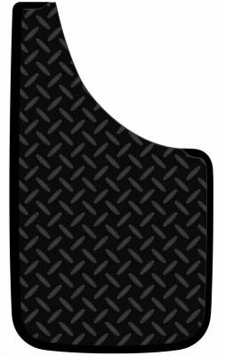 "Mud Flaps by Style - Logo Mud Flaps - Plasticolor - Plasticolor 000518R01 Diamond Plate Mud Flaps Pair 11"" x 19"""