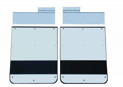 GO Industries - Ford Truck Stainless Steel Mud Flaps - GO Industries - Go Industries S726SET Dually Mud Flaps Ford F250/F350 1973-1998