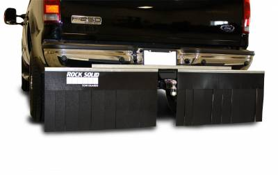"Mud Flaps for Trucks - Rock Solid Hitch Mud Flaps - Rock Solid - Rock Solid 01868 Truck Hitch Mud Flap System 68"" x 18"" with 4"" Lift Bracket"