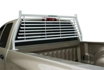 Painted Headache Racks (Black & White) - Chevrolet Trucks - GO Industries - Go Industries 52658 White Painted Headache Rack Chevy Silverado 1500 1999-2004