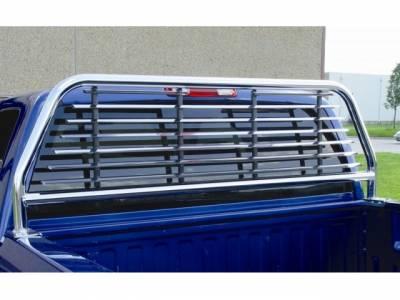 Round Tube Headache Racks - Ford Trucks - GO Industries - GO 52547 Chrome Round Tube-Split Window Headache Rack Ford F-150 2001-2003