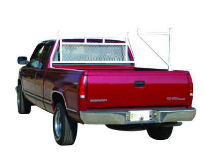 Ladder Rack Carrier (Works with Headache Rack) - Ford Trucks - GO Industries - Go Industries 656-EXT White Ladder Rack/Carrier Ford F-150 (Except Heritage) (2004-2010)