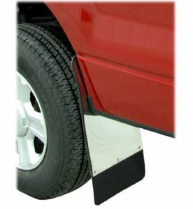 Mud Flaps for Trucks - Luverne Mud Flaps - Traditional Stainless Steel Mud Flaps