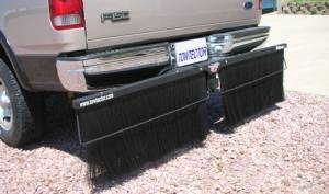 Mud Flaps for Dually Trucks - Towtector Brush Guard Hitch Mount System - Pro Hitch Mount Mud Flaps