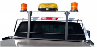 Headache Racks - Luverne Cab Guard - Luverne - Luverne 590201 Utility Light Brackets Cab Guard Black Pair