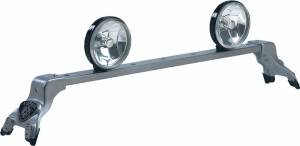 Deluxe Light Bar - Deluxe Light Bar in Titanium Silver Powder Coat - Ford