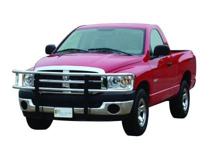 Big Tex Grille Guards for Dodge Trucks - Ram 1500 Models - GO Industries - Go Industries 77613 Chrome Big Tex Grille Guard Dodge Ram 1500 with Tow Hooks 2009-2012