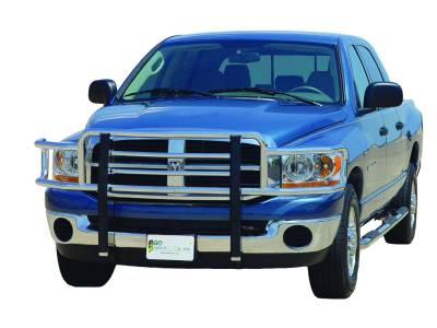 Big Tex Grille Guards for Dodge Trucks - Ram 1500 Models - GO Industries - Go Industries 77668 Chrome Big Tex Grille Guard Dodge Ram 1500 without Tow Hooks 2009-2012