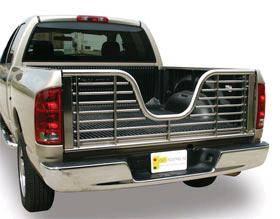 Stainless Steel V-Gate - Dodge - GO Industries - Go Industries 5624 V-Gate Tailgate Stainless Dodge Ram 1500 2009-2013 and Dodge RAM 2500/3500 2010-2014