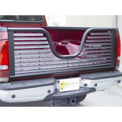 Black - Dodge - GO Industries - Go Industries 6124 Louvered V-Gate Tailgate Black Dodge Ram 1500 2009-2013