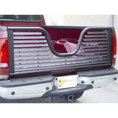 Black - Ford - GO Industries - Go Industries 6136 Louvered V-Gate Tailgate Black Ford F-150 Except Heritage 2004-2010