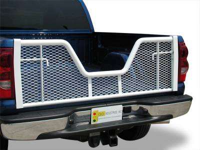 Painted White V-Gate Tailgate - Ford - GO Industries - Go Industries 6686 V-Gate White Tailgate Ford F-150 Except Heritage 2004-2010