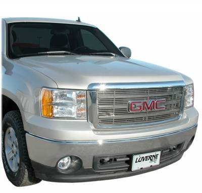 Billet Grilles | Grille Inserts - Luverne - Luverne - Luverne 230741 Horizontal Stainless Steel Grill Insert 2007-2010 GMC Sierra 2500HD/3500