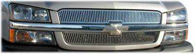 MDF Exterior Accessories - Billet Grilles | Grille Inserts - Luverne - Luverne 230512 Vertical Stainless Steel Grill Insert 2006-2007 Chevy Silverado 1500/1500HD/2500 Stainless Steel Body Style