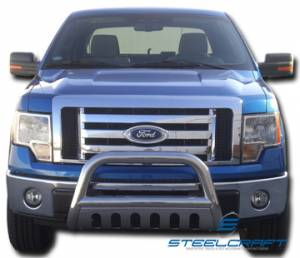 "Grille Guards & Brush Guards - Steelcraft Grille Guards - 3"" Bull Bar"