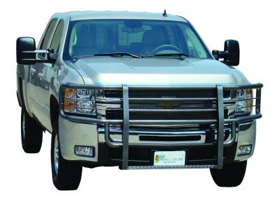 Rancher Grille Guards for GMC Trucks - Rancher Grille Guards in Black - GO Industries - Go Industries 46629 Black Rancher Grille Guard GMC Sierra 2500HD/3500 2003-2006