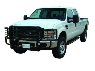 Rancher Grille Guards for Ford Trucks - Rancher Grille Guards in Black - GO Industries - Go Industries 46644 Black Rancher Grille Guard Ford Super Duty F-250/F350 2011-2014