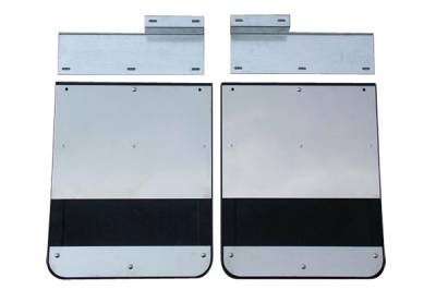 GO Industries - Ford Truck Stainless Steel Mud Flaps - GO Industries - Go Industries S70730SET Dually Mud Flaps Ford F250/F350 1999-2010