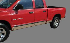 GO Industries Rocker Panel Molding - Dodge - GO Industries - Go Industries 7891 Stainless Steel Rocker Panel Molding for (1987 - 1996) Dodge Dakota Regular Cab Long Bed