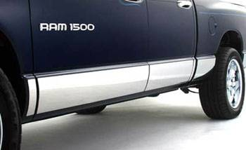 GO Industries Rocker Panel Molding - Ford - GO Industries - Go Industries 7931 Stainless Steel Rocker Panel Molding for (2004 - 2008) Ford F-150 Regular Cab Long Bed except Heritage