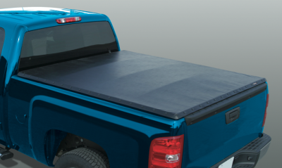 MDF Exterior Accessories - Tonneau Covers - Rugged Cover - Rugged Cover SN-NT5504TS Vinyl Snap Tonneau Cover Nissan Titan 5.5' with utility track 2004-2013