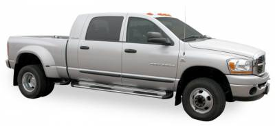 Side Entry Steps - Dodge - Luverne - Luverne 550950 Stainless Steel Running Boards Dodge Reg Cab 2002-2008
