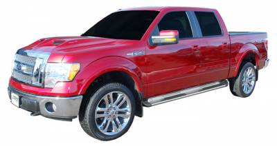 Side Entry Steps - Ford - Luverne - Luverne 480923 Stainless Steel Running Boards Ford F150 Super Crew 2009-2013 Pair
