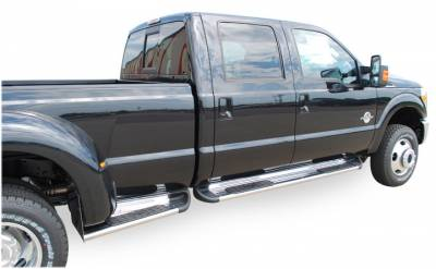 Side Entry Steps - Ford - Luverne - Luverne 480824 Stainless Steel Running Boards Ford Dually Box Extension 1999-2015