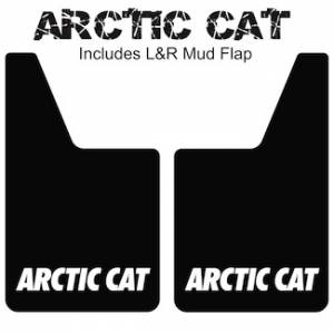 "Proven Design Mud Flaps with Logo's - Classic Series Mud Flaps 20"" x 12"" - Artic Cat Mud Flaps Logo"