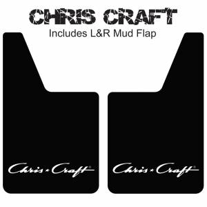 "Proven Design Mud Flaps with Logo's - Classic Series Mud Flaps 20"" x 12"" - Chris Craft Mud Flaps Logo"