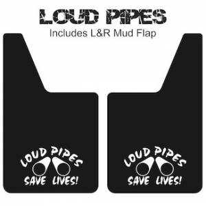 "Proven Design Mud Flaps with Logo's - Classic Series Mud Flaps 20"" x 12"" - Loud Pipes Mud Flaps Logo"