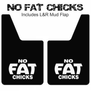 "Proven Design Mud Flaps with Logo's - Classic Series Mud Flaps 20"" x 12"" - No Fat Chicks Mud Flaps Logo"