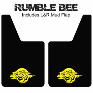 "Proven Design Mud Flaps with Logo's - Classic Series Mud Flaps 20"" x 12"" - Rumble Bee Mud Flaps Logo"
