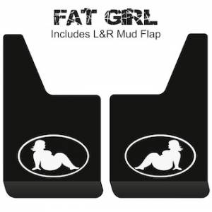 "Proven Design - Contour Series Mud Flaps 19"" x 12"" - Fat Girl Logo"