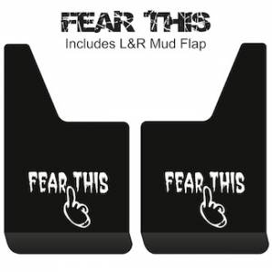 "Proven Design - Contour Series Mud Flaps 19"" x 12"" - Fear This Logo"